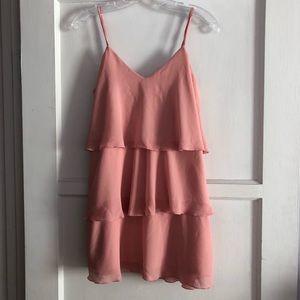 Show Me Your MuMu pink ruffle dress XS New